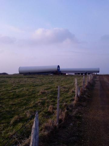 Arrivé des premières éoliennes
