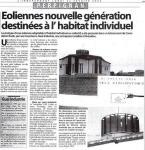 Éolienne nouvelle génération pour habitat individuel