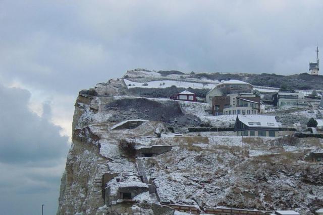 La côte de la vierge sous la neige
