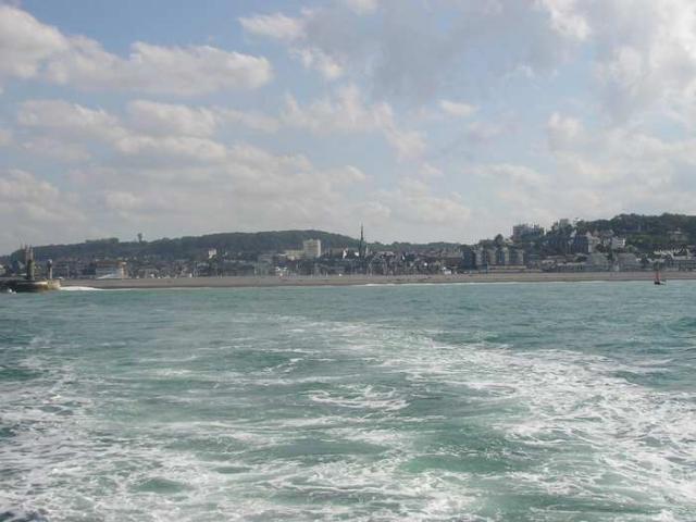 Fécamp vue de la mer