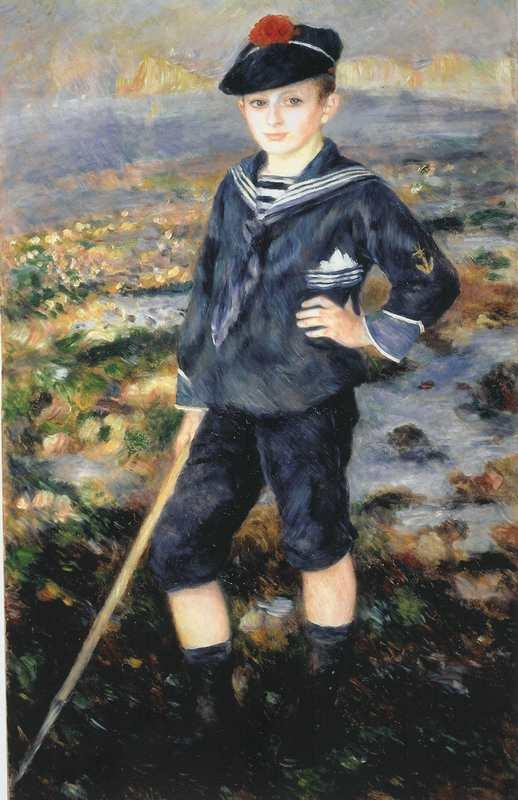 Jeune Garçon sur la Plage d'Yport....
