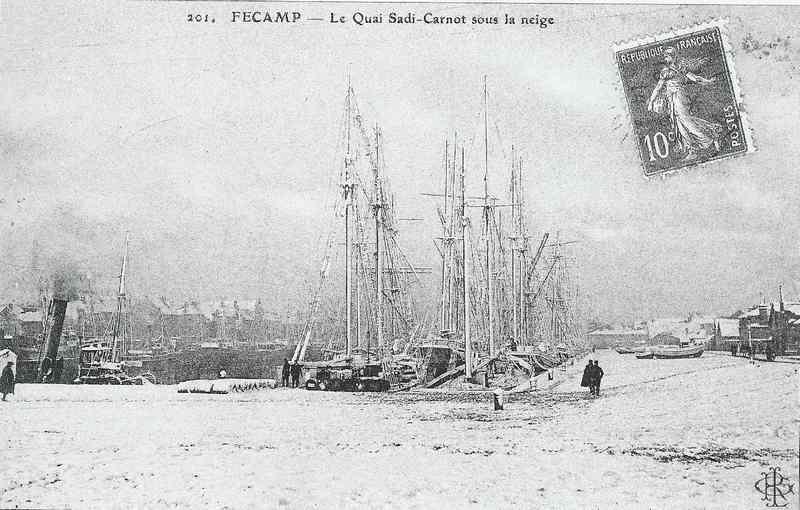 Le Quai Sadi-Carnot sous la neige