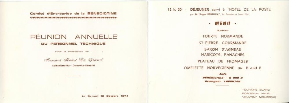 Invitation Bénédictine