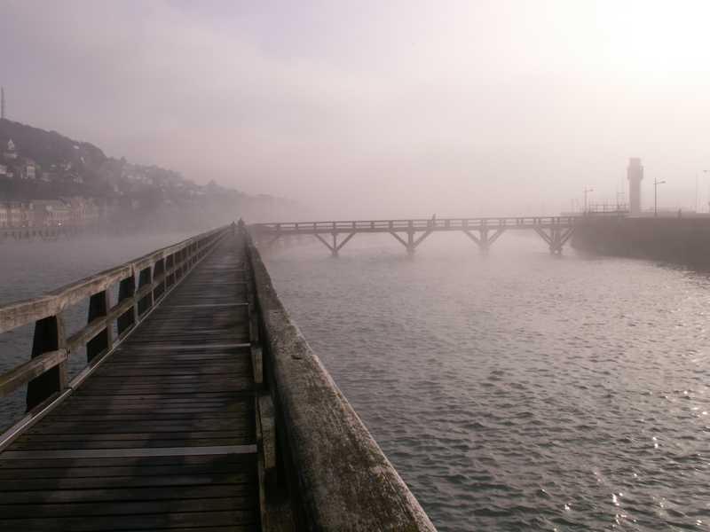Fécamp sous la brume