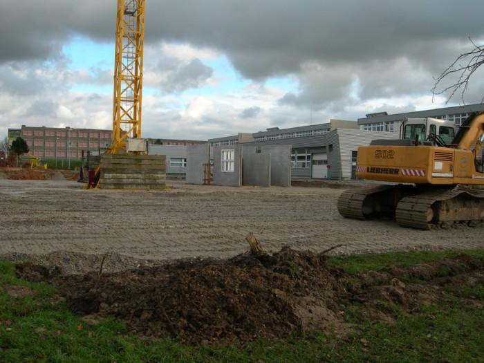 Construction du Gymnase Descartes