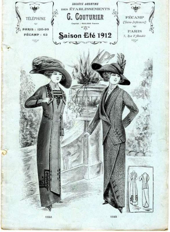 Ets G.COUTURIER COLLECTION ETE 1912