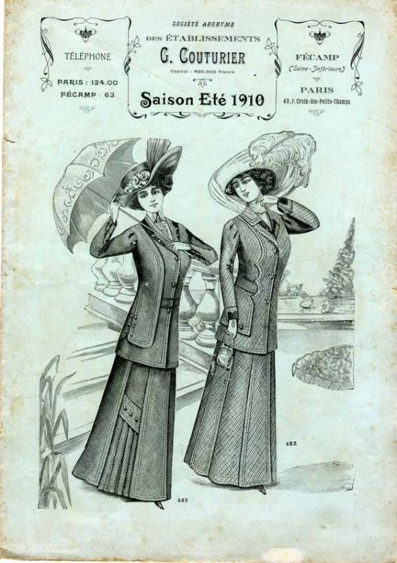 Ets G.COUTURIER COLLECTION ETE 1910