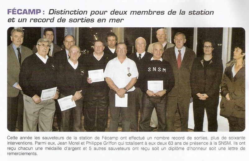 Distinction à la SNSM FECAMP