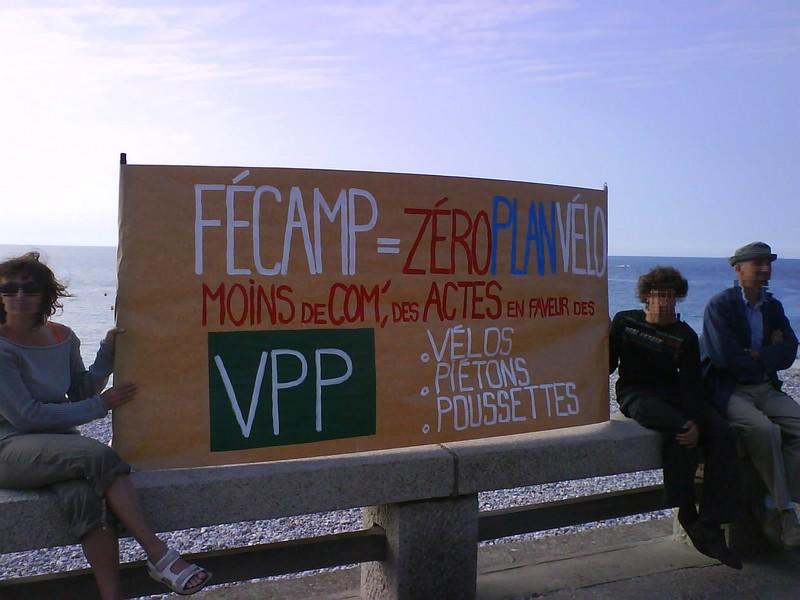 manifestation pour la promo du vélo à Fécamp