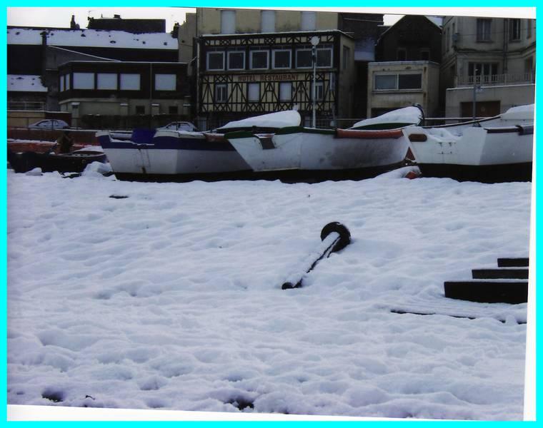 yport sous la neige