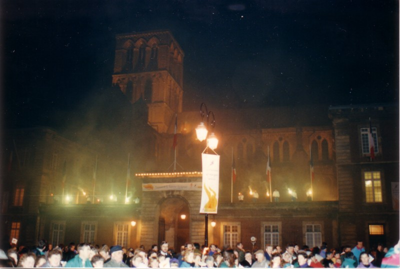 La Flamme Olympique à Fécamp en 1992