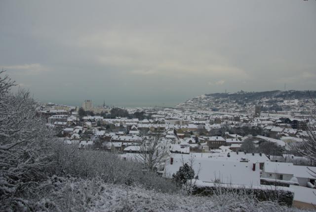 neige à Fécamp