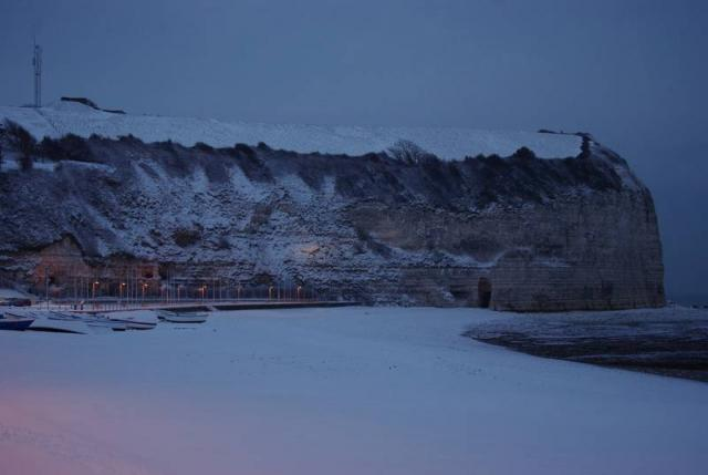 plage sous la neige janvier 2010