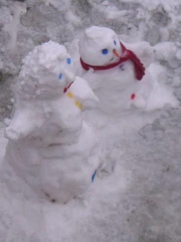 couples de neige