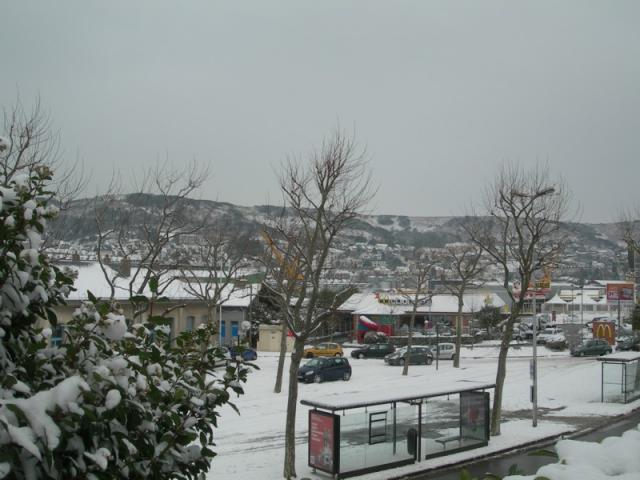 Fécamp sous la neige
