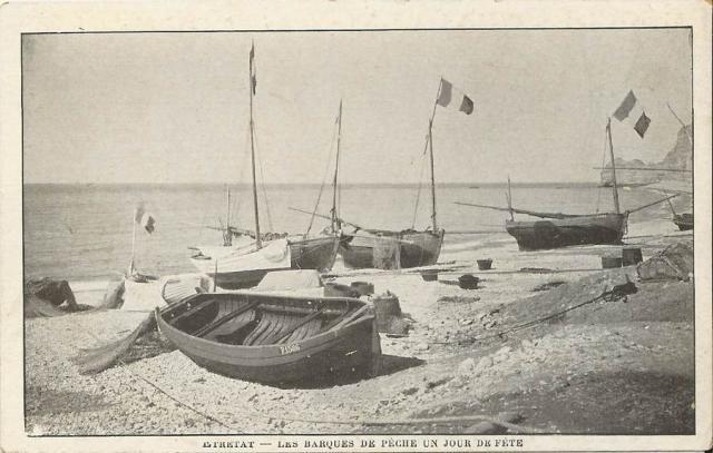 Les barques à Etretat