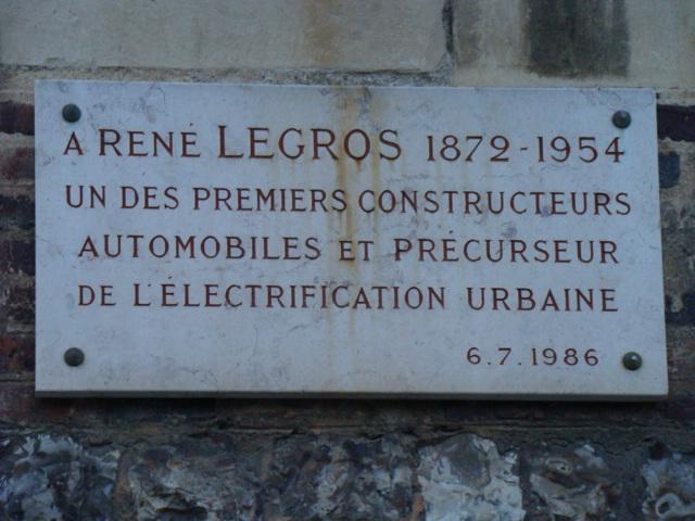 Plaque René Legros