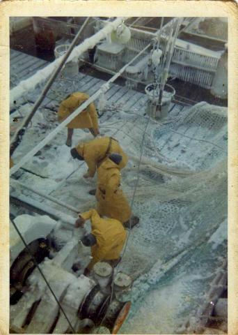 marins au travail
