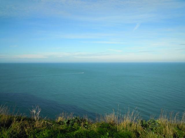 La mer vue du Cap Fagnet par beau temps