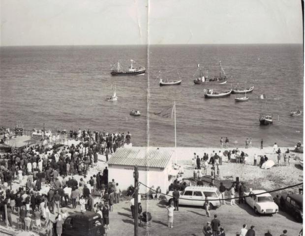 la plage d'Yport,un jour de fete de la Mer