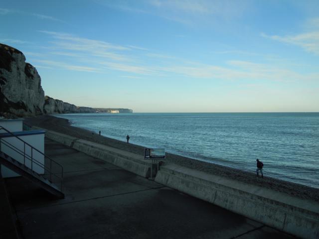 Pêcheurs sur plage, un petit matin d'Octobre