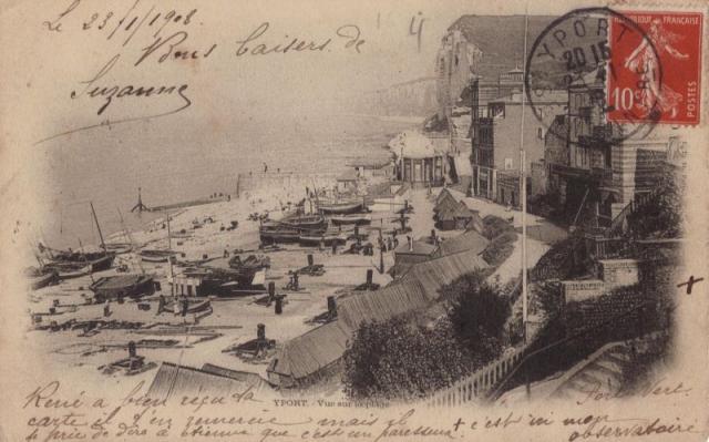 Yport carte postale 1908