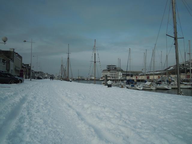 Le  Quai Bérigny sous la neige
