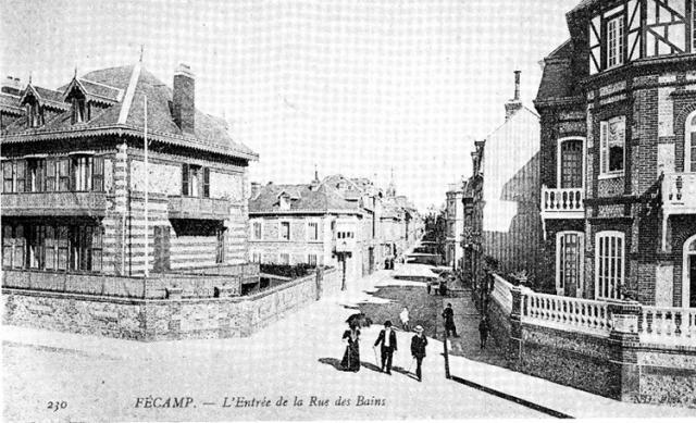 "Rue Louis Caron, ex ""rue des Bains"""