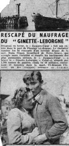 naufrage du Ginette Leborgne