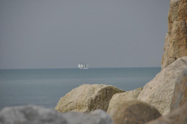 Falaise, mer, et Marité