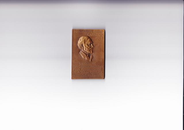 medaille de bronze carnegie Jean Maguet