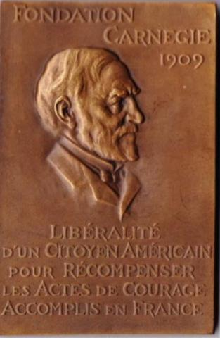 plaque de bronze