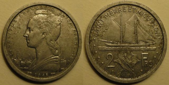 Menue monnaie à Saint Pierre & Miquelon