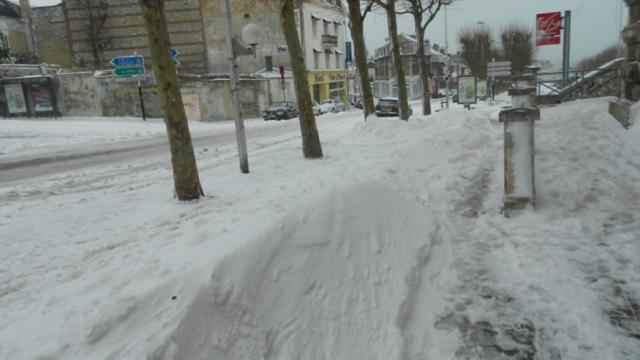 Avenue Gambetta, Tempête de neige 2013