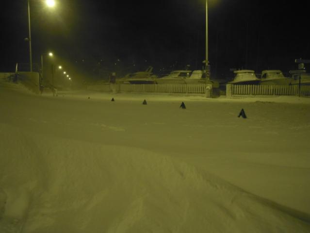Place de l'Eclipse, tempête de neige 2013