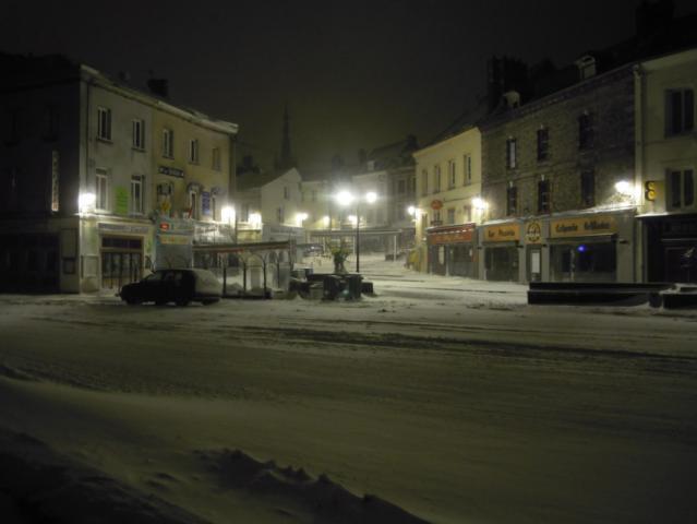 Place Nicolas-Selle, tempête de neige 2013