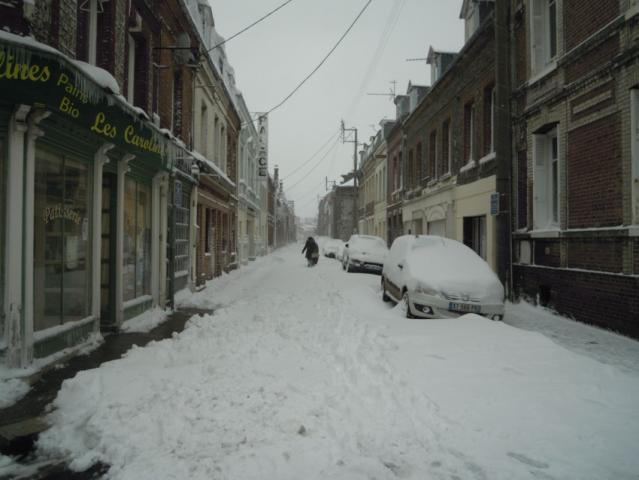 rue Théagène Boufart, tempête de neige 2013