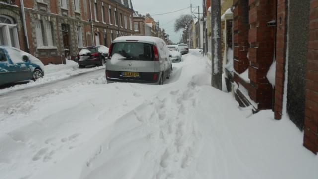 Rue Jules Ferry, tempête de neige 2013