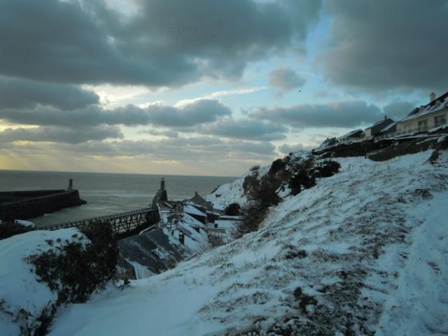 Côte de la Vierge, tempête de neige 2013