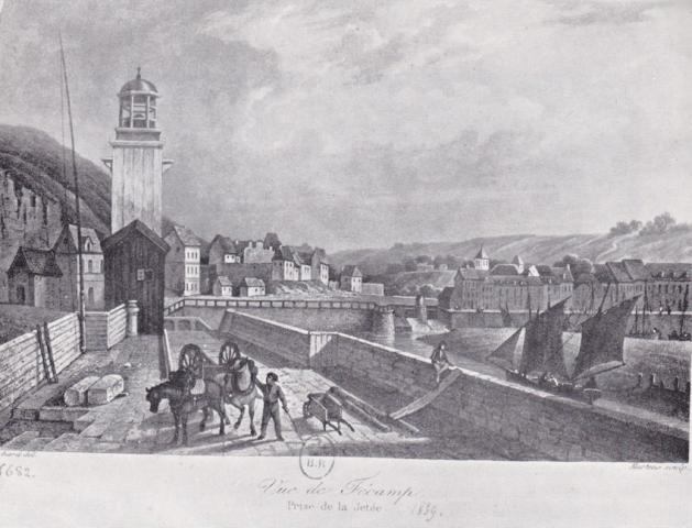 Entrée du Port, en 1839