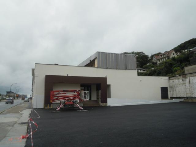 Le Spazio en construction, avenue Jean-Lorrain