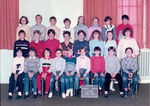 Classe de 5ème F Collège Georges Cuvier en 1984