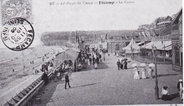 Le Casino, la plage vers 1865