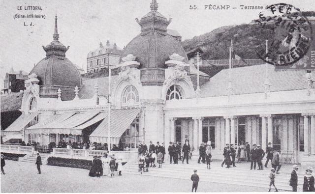 Le casino au début du XXè, la terrasse