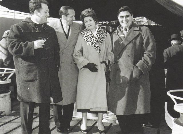 M. et Mme Mazoyhié avec M.Diez et Jean York