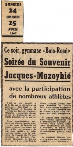 """Jacques Mazoyhié, président de l'association gymnique """"Bois Rosé"""""""