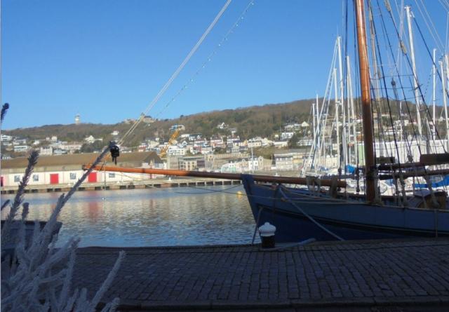 Le port, le Mille Pattes, Noël a Fécamp