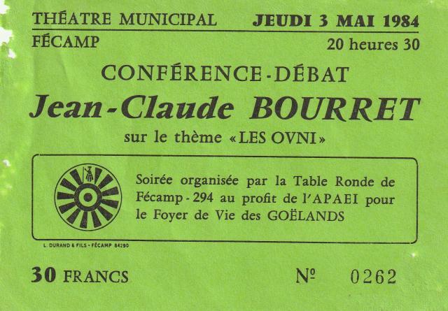 Conférence - Débat Jean-Claude Bourret - OVNI